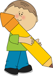 pencil clipart png. boy holding a big pencil clipart png