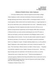 texas revolution essay reid worrel manifest destiny dr megan  2 pages manifest destiny paper