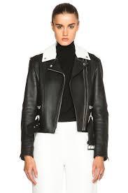 image 1 of alexander leather double zip biker jacket in nocturnal