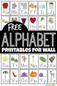 Learn basic or advanced colors! Free Alphabet Printables For Wall