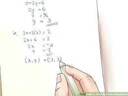 4 ways to solve systems of equations wikihow