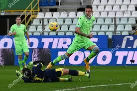 Sergej MilinkovicSavic Lazio Parma goalkeeper Luigi Sepe Editorial Stock  Photo - Stock Image