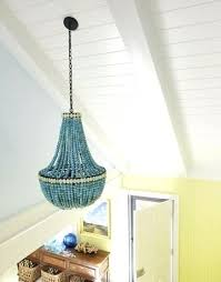 turquoise beaded chandelier cottage entrance foyer lighting new turquoise beaded chandelier light fixture or turquoise beaded chandelier 96 lighting s