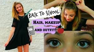 back to hair makeup outfit