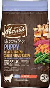Merrick Dog Food Feeding Chart Merrick Grain Free Puppy Chicken Sweet Potato Recipe Dry Dog Food 4 Lb Bag