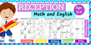 Covering, letters of the alphabet, short vowels, beginning and ending consonants, long vowels, vowel digraphs, s blends, r blends. Reception Workbook Math And English Age 5 6 The Mum Educates