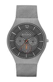 skagen titanium and stainless steel bracelet mens watch skw6146