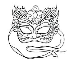 Mask Coloring Pages Coiffurehommeinfo