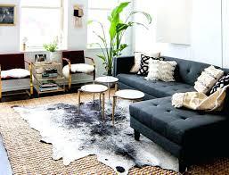 brindle cowhide rug living room real how to clean fake