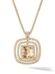 David Yurman 18Kt Yellow Gold Châtelaine <b>Citrine</b> And Diamond ...