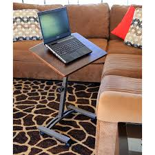 new adjule laptop desk rolling cart sofa over bed stand notebook table brown