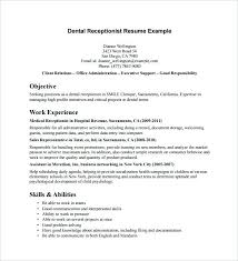 Receptionist Resumes Examples Receptionist Resume Sample Stylist