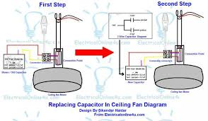 best ceiling fan 3 wire capacitor wiring diagram how to test a 5 wire ceiling fan capacitor gradschoolfairs com