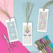 Cross Stitch Free Patterns Custom Unicorn CrossStitch Bookmarks With Free Pattern BugabooCity