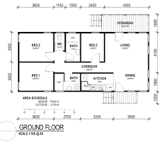 decor nice simple small 3 bedroom rectangular house plans