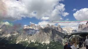 Frecce Tricolori 2017, Cortina d'Ampezzo 5 Torri - YouTube