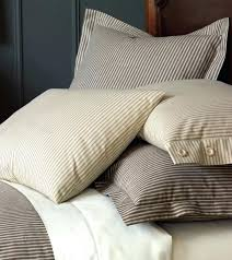 ticking stripe duvet cover trendy light blue sham sandalwood