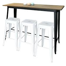 bar table with black legs white stools round pub