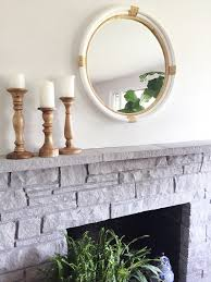 painted stone wallPainted Stone Fireplace Makeover  The Inspired Room