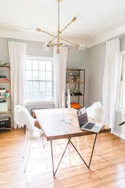 lighting elegant office room design with sputnik chandelier and