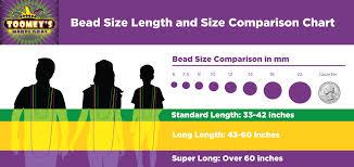 Mm Bead Chart Toomeys Mardi Gras Mardi Gras Bead Size Chart