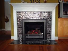 gas fireplace tile ideas glass tiled high efficiency gas log fireplace with decorative molding gas fireplace