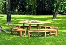 picnic table with detached benches full size of home extraordinary