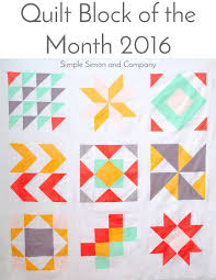 2016 Quilt Block of the Month Quilt Top - Simple Simon and Company & 2016 Quilt Block of the Month Quilt Top Adamdwight.com