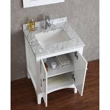 single white bathroom vanities. Furniture: 24 In Bathroom Vanity Modern Shop Style Selections Drayden Gray Integral Single Sink Pertaining White Vanities