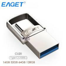 <b>EAGET CU20</b> USB 3.0 <b>Type</b>-<b>C</b> 3.1 2-In-1 Rotary Design USB3.0 ...