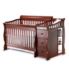 Best Cribs Bedroom Awesome Brown Wood Baby Cache Crib With Three Drawers For