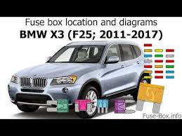 Fuse Box Location And Diagrams Bmw X3 F25 2011 2017
