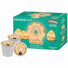 Of the original donut shop dark coffee each. Foods Co The Original Donut Shop Vanilla Cream Puff Coffee K Cup Pods 12 Ct