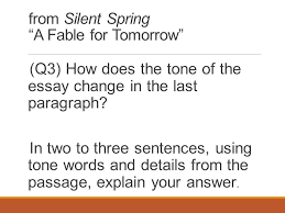 grade close reading lesson ppt video online  from silent spring a fable for tomorrow