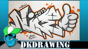 how to draw graffiti letters nice step