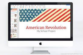 American Revolution Powerpoint Template Theme