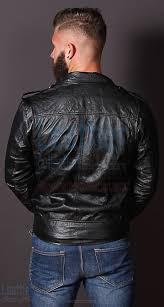 leather jacket fashion men