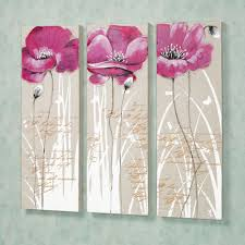 >wall art adorable pictures poppy canvas wall art poppy pictures on  awesome charming design oil painting floral poppy canvas wall art ideas three violet flower picture theme
