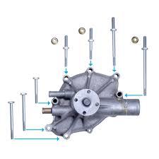 mustang water pump bolt kit cj pony parts water pump bolt kit 302 351 1979 1993