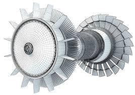 jet turbine turbofan 3d model max obj mtl 3ds fbx c4d lwo lw lws 12