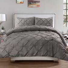 pinch pleat duvet cover.  Duvet Image Is Loading Luxury3PiecePinchPleatPintuckDuvetCover Throughout Pinch Pleat Duvet Cover E