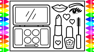 how to draw a makeup set step by step for kids makeup drawing fun coloring pages for kids