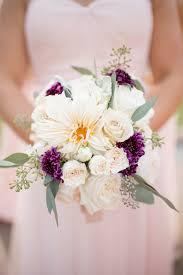 Scabiosa Floral Design Sweet Bridesmaid Bouquet With Plum Scabiosa Accents Floral