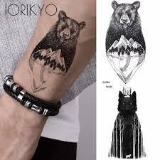 Ioridyo мужские классные полярные медведи временные татуировки