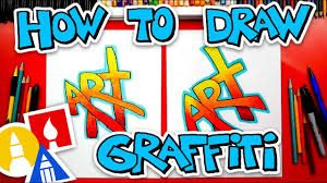 How To Draw The Word Art (Simple <b>Graffiti</b> Style) + Challenge Time ...