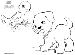 Animals From Lego Friends Coloring Pages Free Printable Coloring Pages