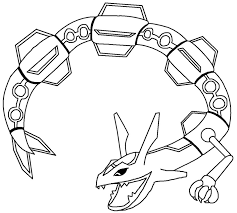 Mega Pokemon Rayquaza Coloring Pages