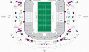 Georgia Dome Parking Map Football Seating Charts Mercedes