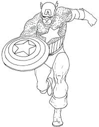 Coloring Pages Captain America Pafminfo