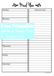 Free Online Meal Planner Template